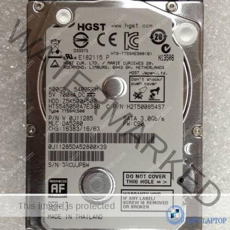 HGST 500GB 5400RPM LAPTOP