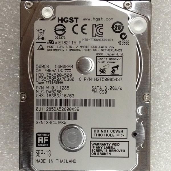 HGST 500GB 5400RPM LAPTOP