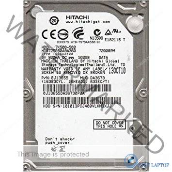 HITACHI 500GB 7200RPM LAPTOP
