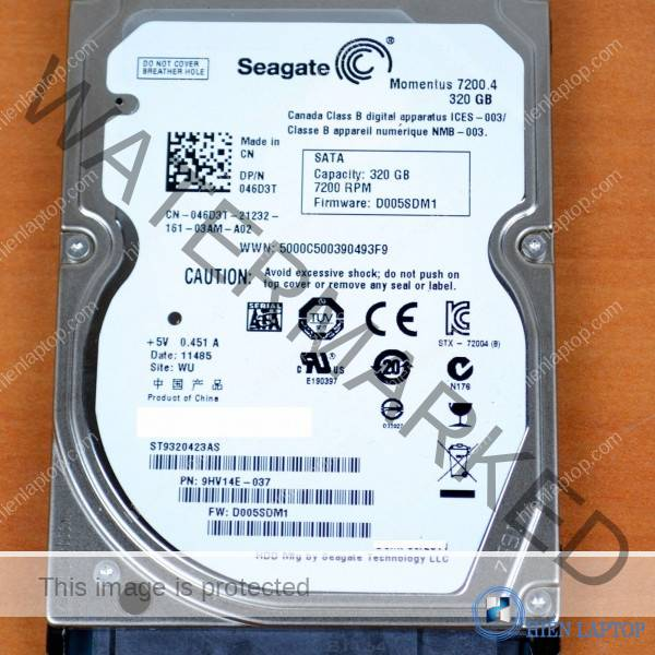 SEAGATE 320GB 7200RPM LAPTOP