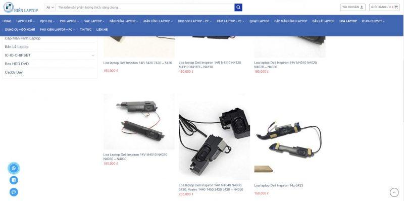 Ảnh báo giá sửa loa laptop Dell tại hienlaptop.com
