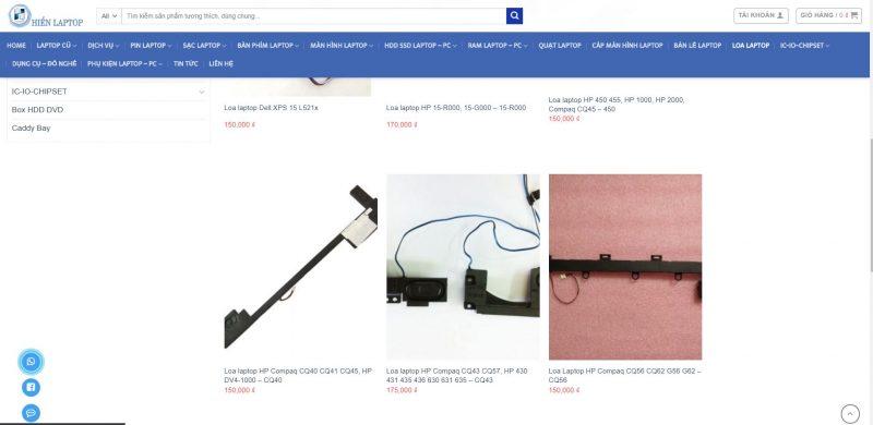 Ảnh báo giá sửa loa laptop HP tại hienlaptop.com