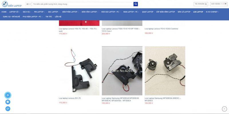 Ảnh báo giá sửa loa laptop Samsung tại hienlaptop.com