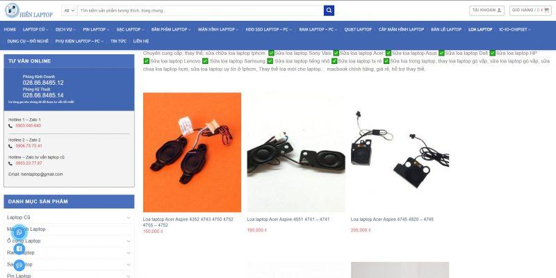 Sửa loa laptop gò vấp chuyên nghiệp - uy tín tại hienlaptop.com