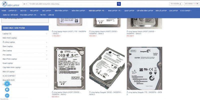 Hiển Laptop chuyên sửa chữa và thay thế ổ cứng laptop uy tín