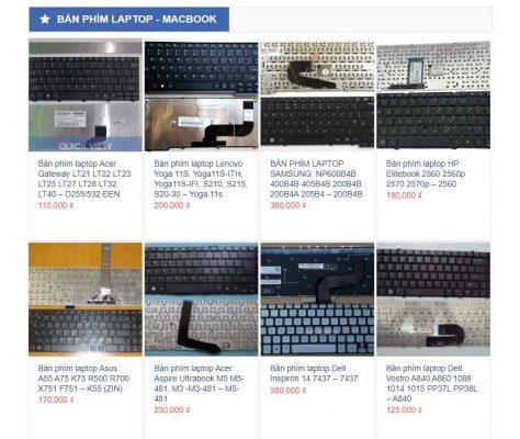Thông tin và báo giá linh kiện bàn phím tại Hiển Laptop