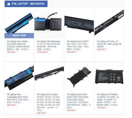 Thông tin và báo giá linh kiện pin tại Hiển Laptop