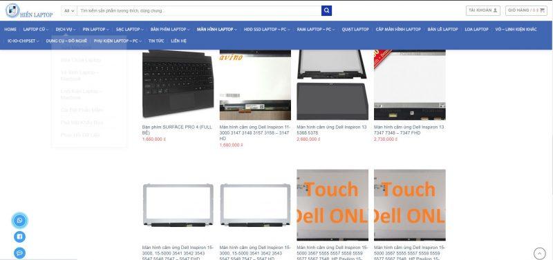 Thông tin và báo giá màn hình laptop Dell tại Hiển Laptop