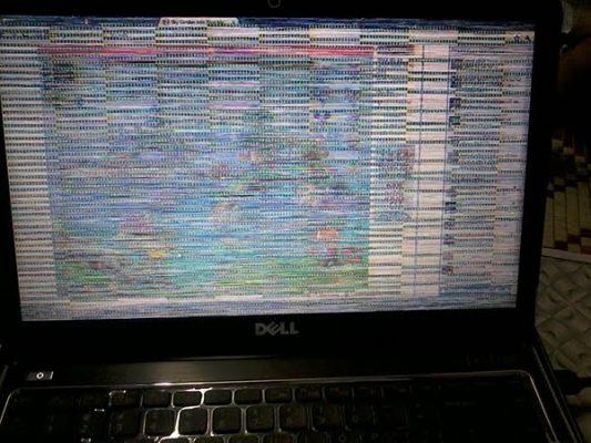 Ảnh minh họa lỗi màn hình laptop Dell