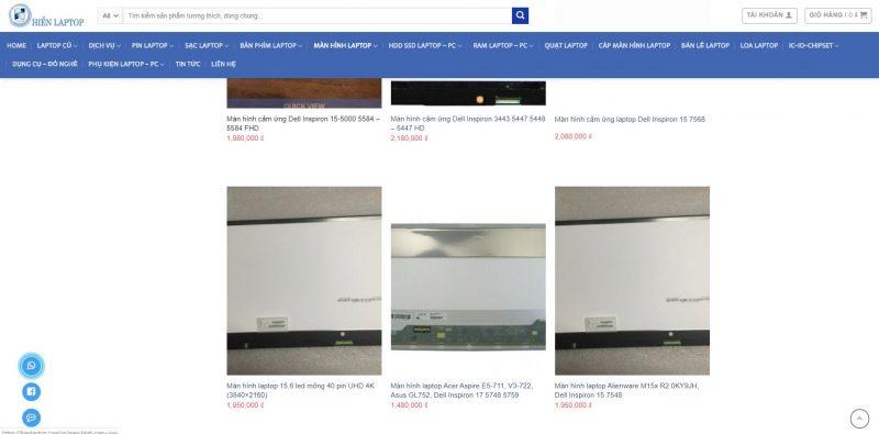 Bảng giá thay màn hình laptop Dell tại Hiển Laptop