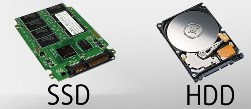 Ổ cứng SSD và ổ cứng HDD